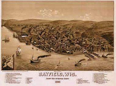 Bayfield, Wisconsin, Early Map
