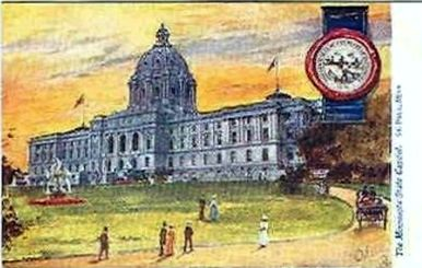 Minnesota State Capital St Paul 1880s Vintage Postcard